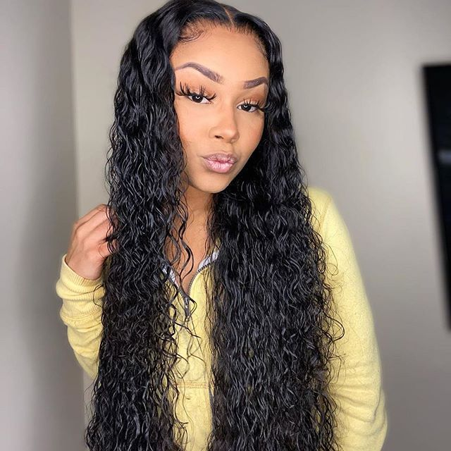 Water Wave 16 36 Inch 13 6 Human Hair Lace Front Wigs With Baby Hair Front Lace Wigs Human Hair Curly Human Hair Wig Hot Beauty Hair