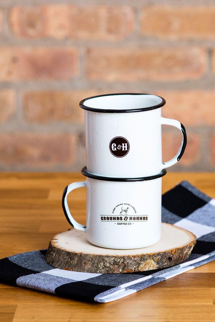Classic Camping Tin Mugs, Cocoa drink, Tin