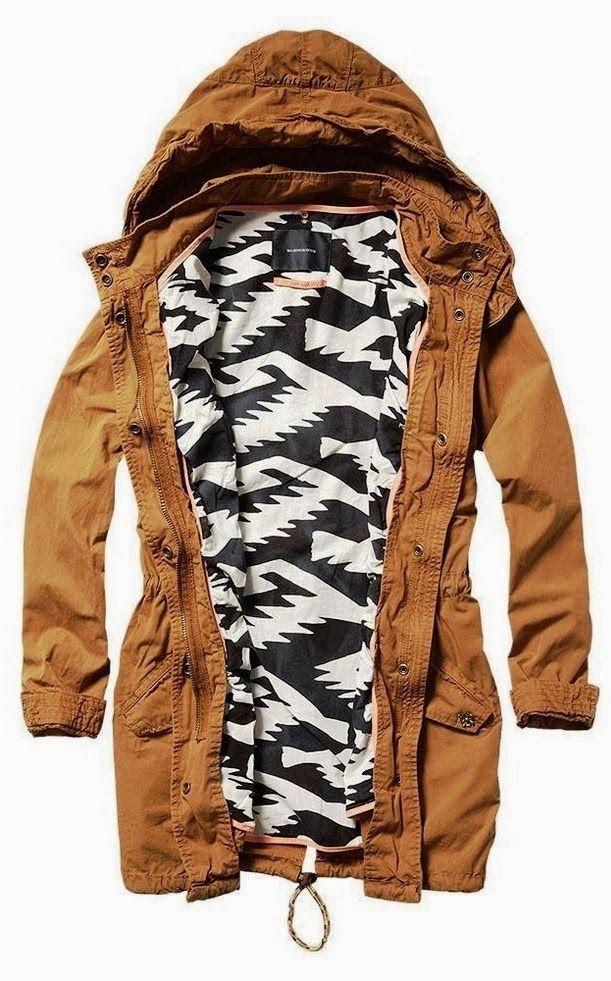 Khaki Casual Hooded Jacket