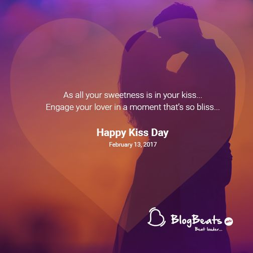 And while you utter those magical words..kiss and make that perfect moment special today. #KissDay