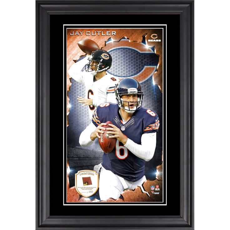 Jay Cutler Chicago Bears Fanatics Authentic Framed 10'' x 18'' Photograph with Piece of Game-Used Football - Limited Edition of 250 - $79.99