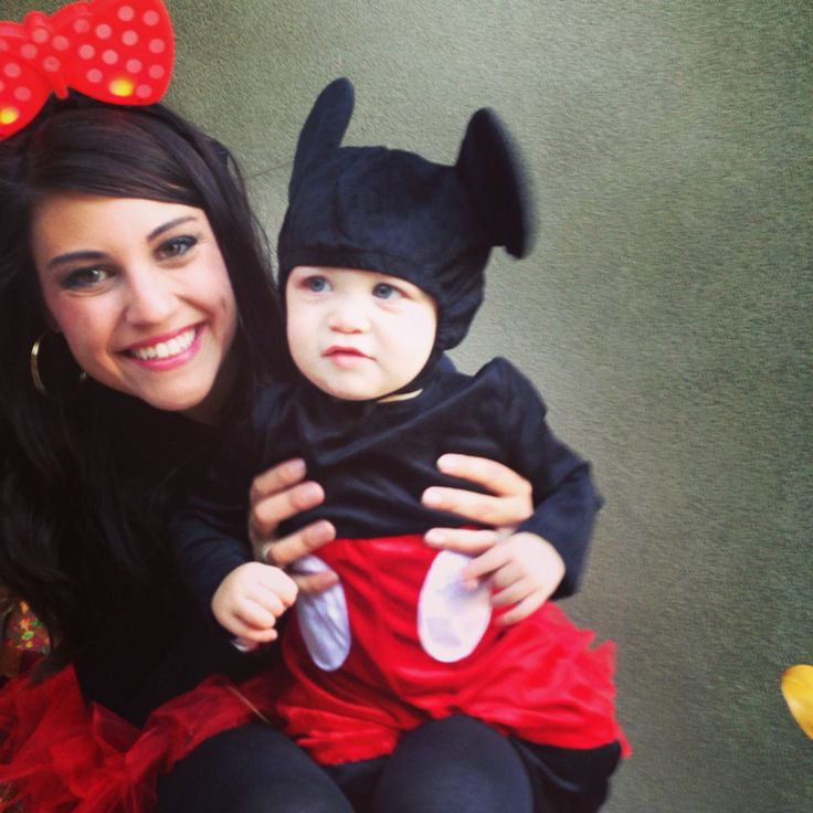 Mickey and Minnie mother son costumes