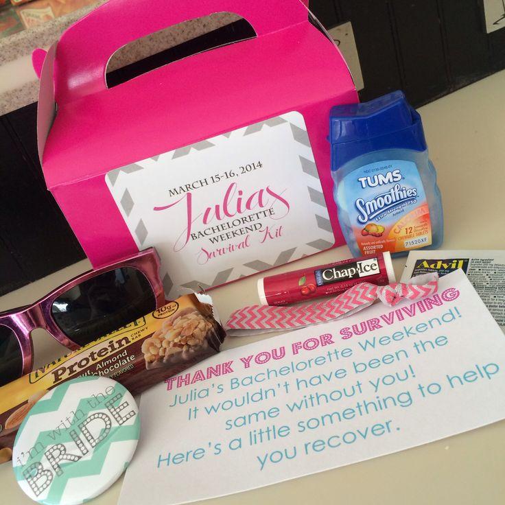 Bachelorette survival kits for my sisters getaway!