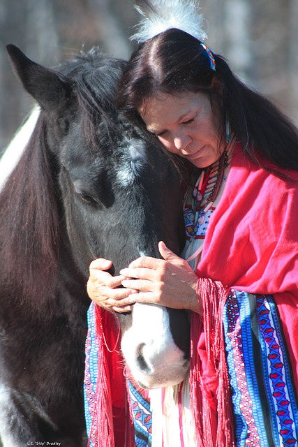 Cherokee Woman & Horse by Skip Bradley. Visit the Adventuretravelshop.co.uk for amazing holidays all over the world by leading travel companies. Adventure travel is the only way to travel - it's thoughtful.