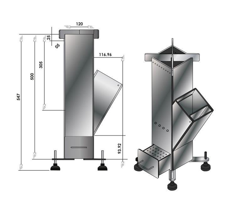 Resultado de imagen para rocket stove dimensions