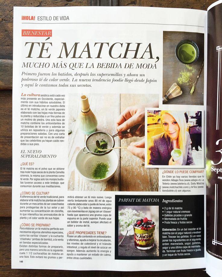 Nuevo reportaje sobre los beneficios de nuestro #TéMatcha realizado por la versión chilena de @revistahola !! Pueden leer el reportaje completo desde nuestro Facebook http://ift.tt/1qR1nmL  #Matcha #MatchaChile #Medios #Reportaje #Beneficios #Antioxidantes #Tenedencia #Chile #TéVerde