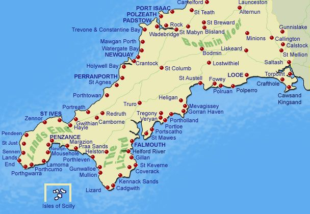 Image Map of Cornwall - Cornwall Online