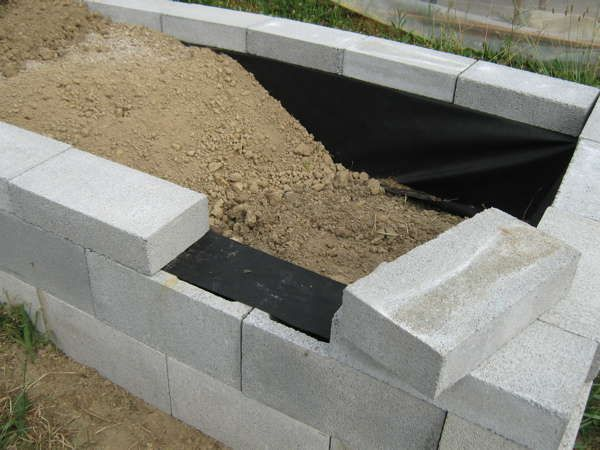 26 best images about raised beds on pinterest gardens for Cinder block pond
