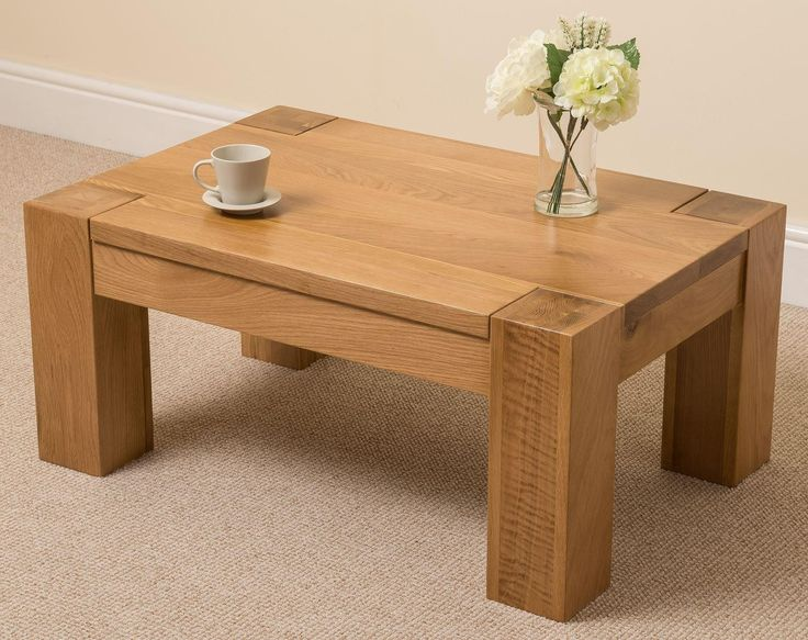 Solid Light Wood Coffee Table