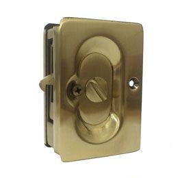 EMTEK ポケットドアプル (引き戸用取っ手) 鍵あり フレンチアンテーク