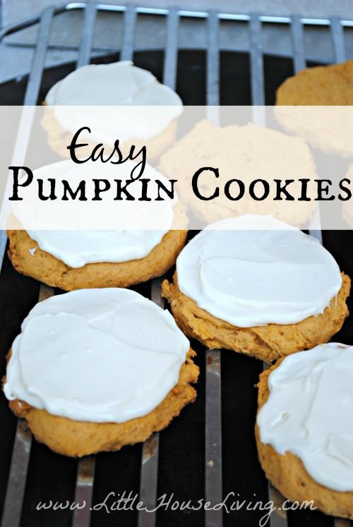 Easy Pumpkin Cookies. Perfect little treat for fall. These are so good!