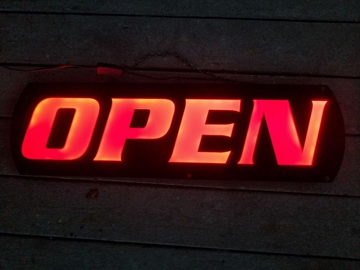Large Open Sign made by Adglo. one side is lite up OPEN, the other side is Family Video Free Kids Movies.   eBay!