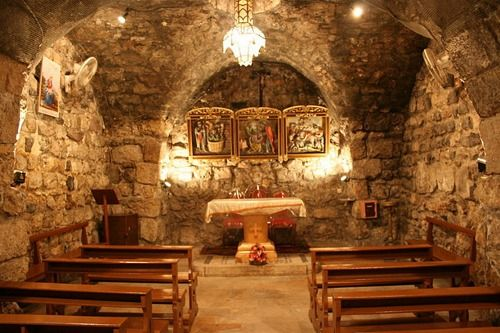 Chapel of Saint Ananias, Damascus, Syria, an early example of a Christian house of worship; built in the 1st century AD