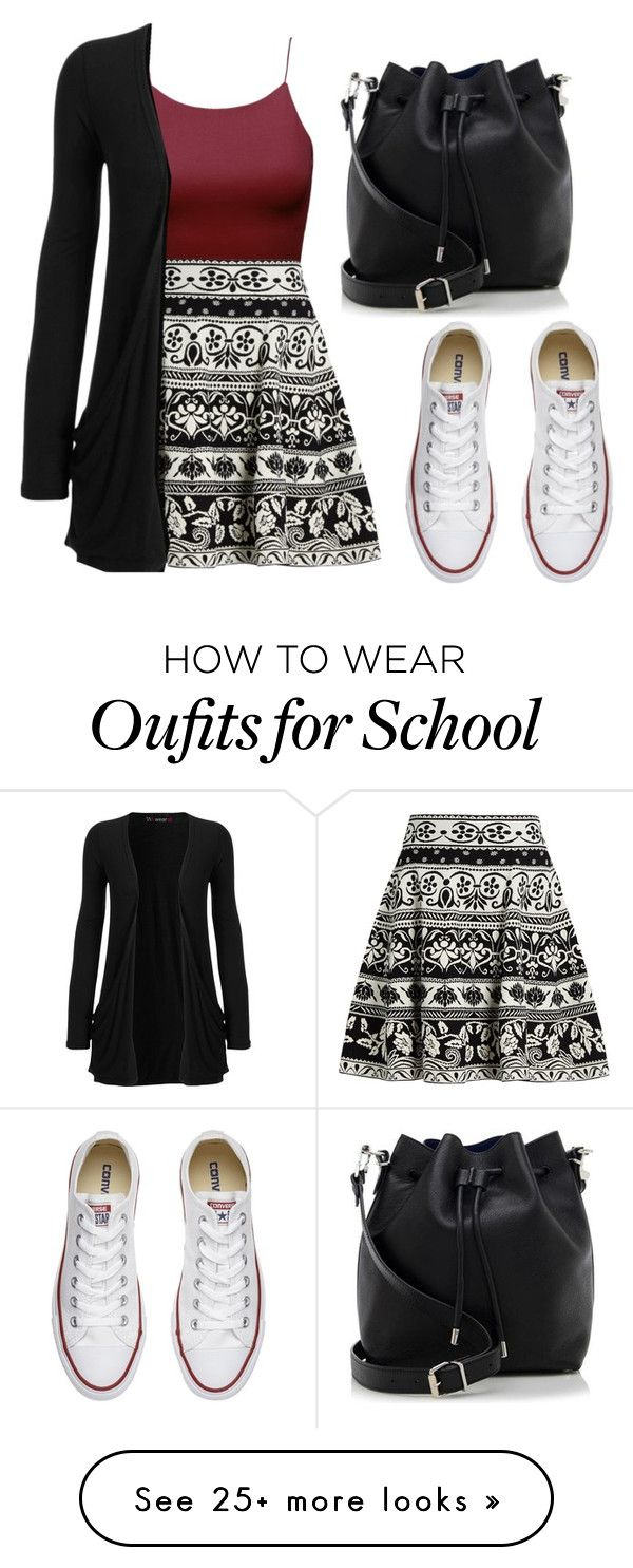"""School look"" by rhianna-alexandre on Polyvore featuring Alexander McQueen, WearAll, Converse and Proenza Schouler"