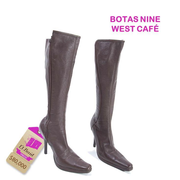 Botas Nine West, encuentra siempre lo mejor de las grandes marcas en El Baúl.  $80,000  http://elbaul.co/Productos/1560/Botas-Nine-West-caf%C3%A9-