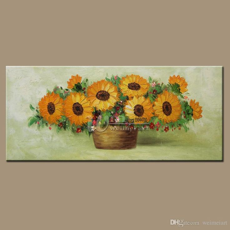 Modern European-style Hand-painted Sunflower Hotel Villa Home Restaurant Office Decoration Hangs a Picture
