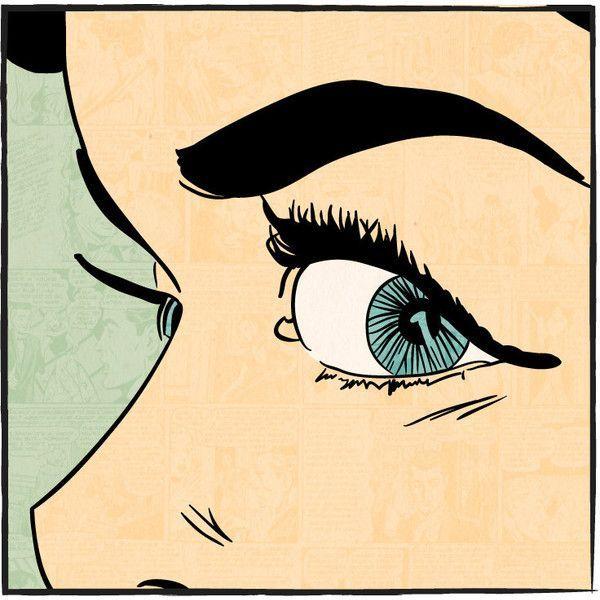 "Vintage Pop Art Comic Style | Vintage Comic Book Pop Art 12x12 ""EYE CLOSE-UP"" ($12) liked on ..."