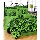 Found it at Wayfair - Lime Zebra Bedding Collection from $23.87