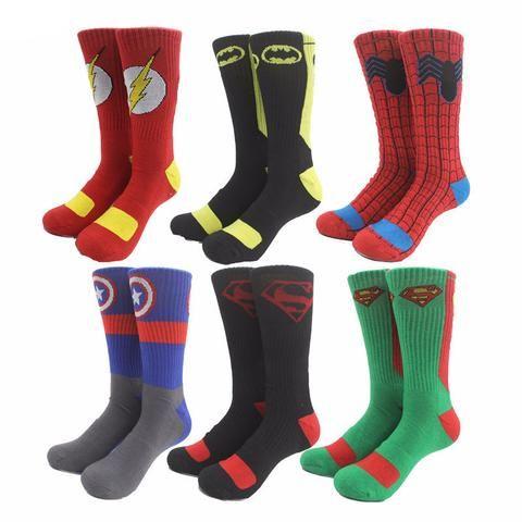Warm and Comfortable DC and MARVEL Superhero Socks (8 options)