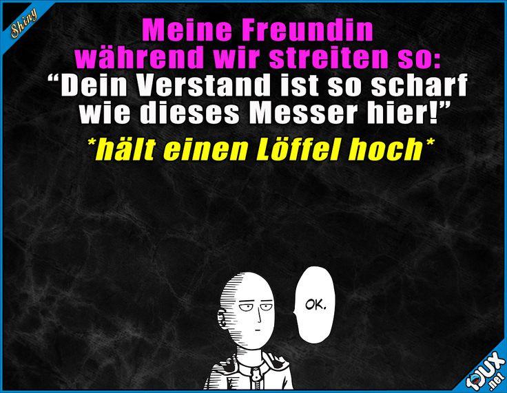 Löffelscharfer Verstand? #gemein #Beziehung #Versöhnung #lustig #Sprüche #WhatsAppSprüche #Statussprüche Humor