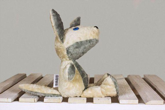 Zachary the wolf Plush wolfs Gift stuffed animal toy by NuvaArt
