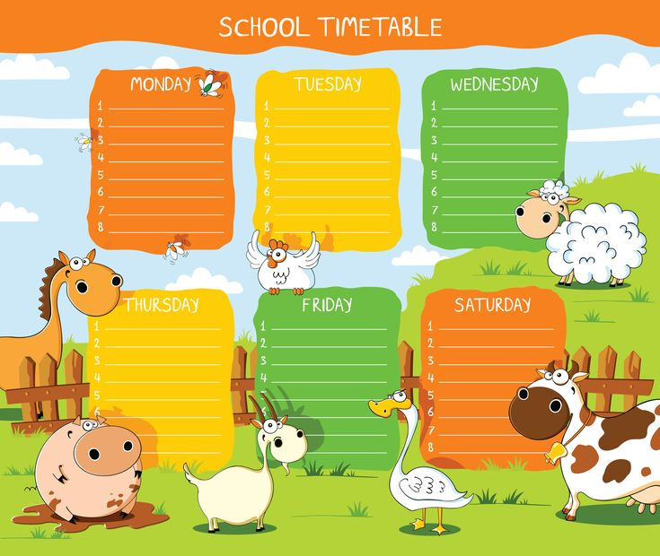 Best Horarios Images On   School Schedule Class