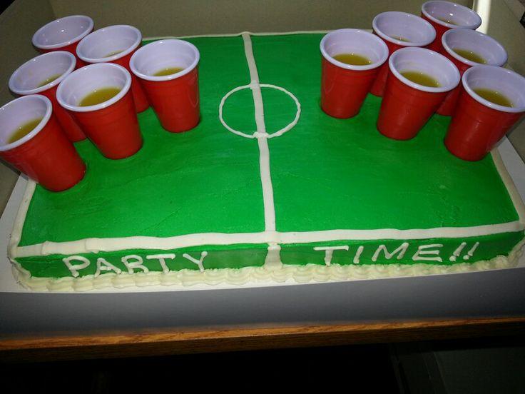 Beer pong cake