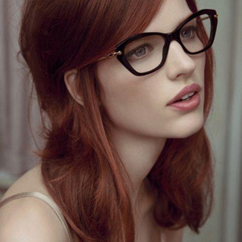 Angular cat eye glasses