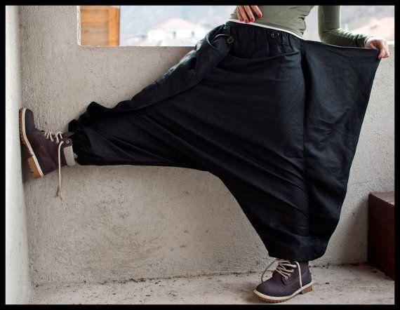 Vleermuis vleugels - Harem broek - Sarouel - Afghaanse broek - Aladdin - Hippie broek door IsNoGoodWear