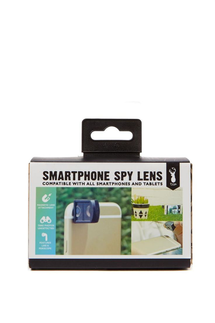 The Spy Lens is a small lens you can attach to your phone to take cool 90 degree angle photos! <br> Have you ever sat next to a celeb and have wanted to take a few snaps? Well now you can.. without being obvious! Just pretend you're texting your bestie, and snap away! <br> Composition: 80% Plastic, 10% Metal, 10% Glass <br/>