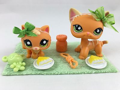 Particulars about Littlest Pet Store cat uncommon quick hair Kitty LPS toy 525 Orange kitten inexperienced eyes