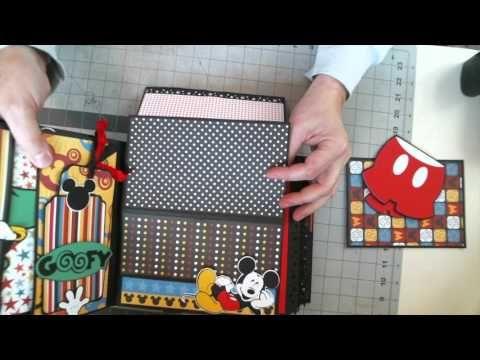 Disney Scrapbook 8 x 8 Interactive Album - YouTube