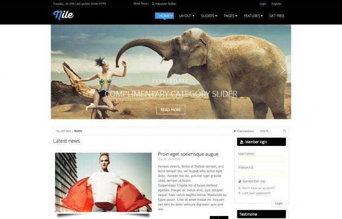 Nile - #Free responsive magazine #Wordpress theme with #clean design