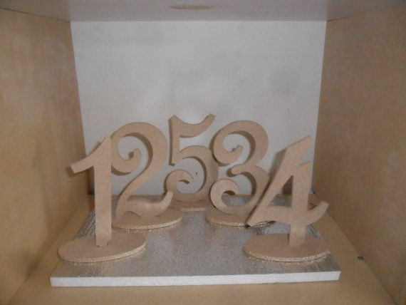6  Script Table Numbers set 120 with 1/4  on Oval by FranksCrafts