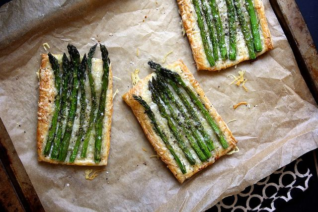 Asparagus and Gruyere Tarts