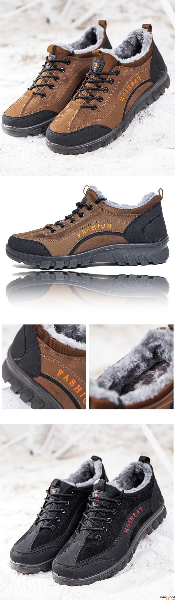 Comfy Men Casual Soft Sole Warm Fur Lining Suede Leather Sports Athetic Shoes. Fashion style for winter must have. Size: US6.5~US10. Shop at banggood with super affordable price.