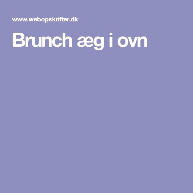 Brunch æg i ovn