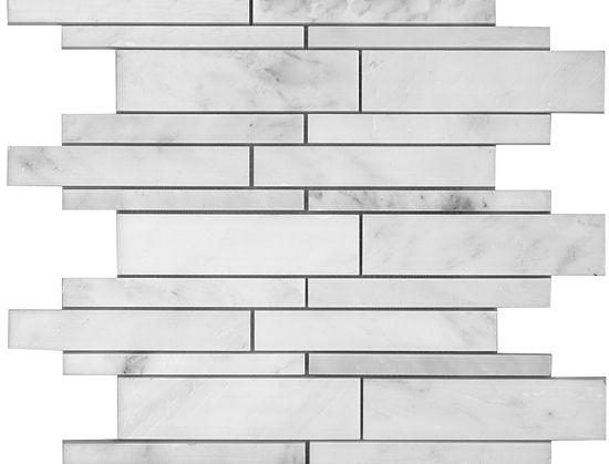 Marble Linear Mosaics Oriental White Polished