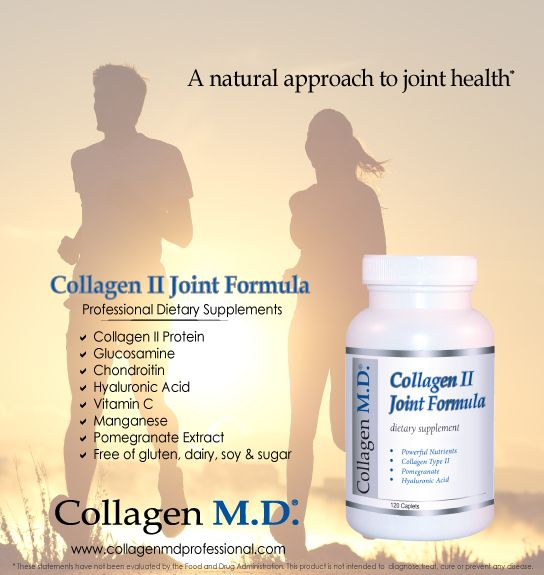 "According to the Arthritis Foundation, ""Over 50 million Americans have arthritis, making it the number one cause of disability in the country"". At risk are older athletes from the trauma, wear and tear of intense training and competition.* Collagen II Joint Formula is a professional-strength dietary supplement that's nutrient-dense and includes 18 amino acids (chicken) to help support the natural mechanisms of the body that maintain joint health.* #athlete #Running #swimbikerun #CollagenMD"