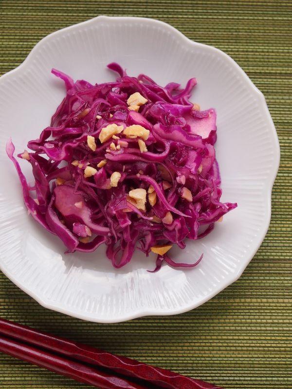 紫キャベツのエスニックマリネサラダ。