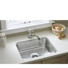 """View the Sterling 11447 McAllister Undercounter Single-Basin Kitchen Sink, 24"""" x 18"""" x 8"""" at FaucetDirect.com."""
