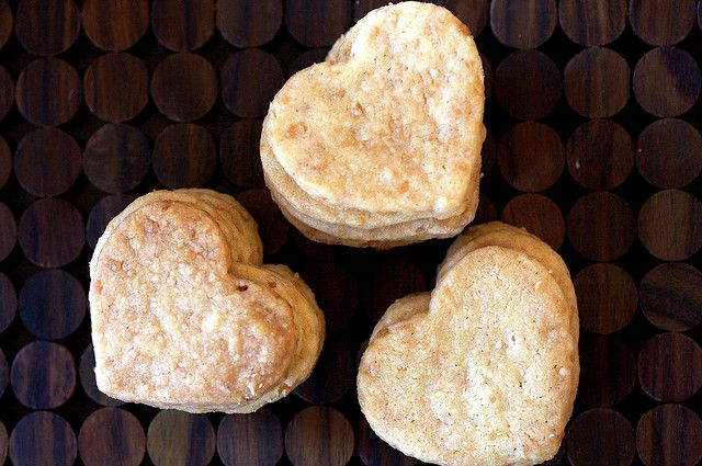 smittenkitchen...toasted coconut shortbread hearts adapted from bon ...