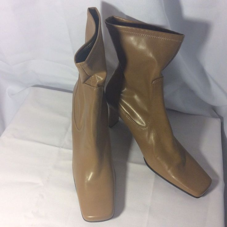 Nine West Ankle Boots Size US 10M Cloud Nine High Heel Caramel Color #NineWest #AnkleBoots