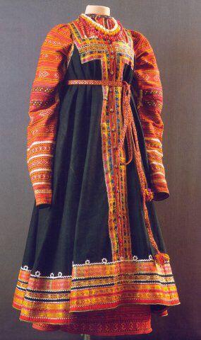 Festive attire of a Russian peasant woman; Smolensk Province, 19th century