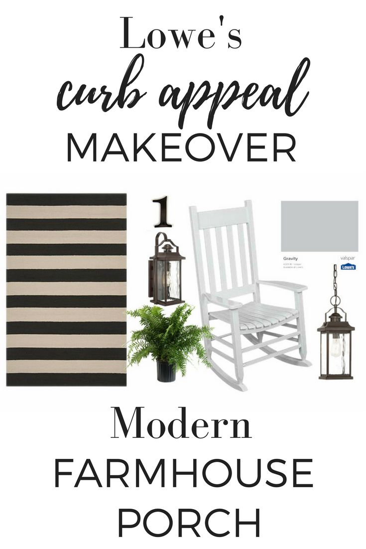 Modern farmhouse inspiration for a front porch renovation from Farmhouse on Boone.