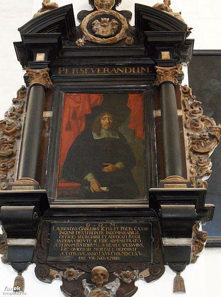 Epitafium Wawrzyńca Gablera, XVII w. - Zespół kościoła św. Trójcy w Gdańsku