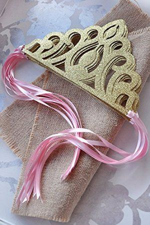 Amazon.com: Princess Crowns As Party Favors - Pink and Gold Birthday Party Decoration: Toys & Games