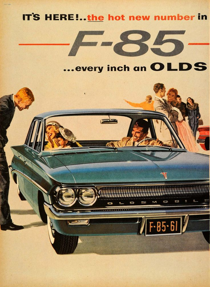 1960 Ad Oldsmobile F-85 General Motors Rockette Auto - ORIGINAL ADVERTISING #vintage