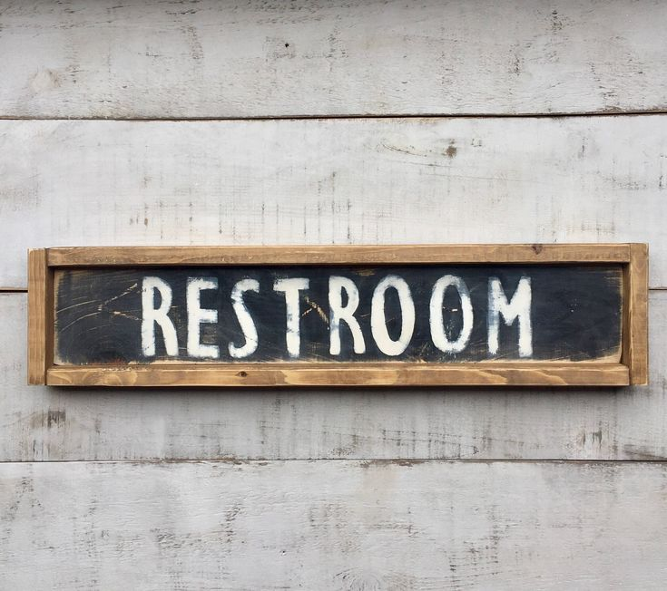 Restroom/ bathroom sign/ signs/ sign/ wood sign/ farmhouse style/ country decor/ bathroom decor by PrimCornersbyNicole on Etsy https://www.etsy.com/listing/497172856/restroom-bathroom-sign-signs-sign-wood