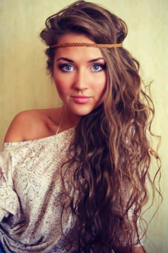 Love the boho headband look. its especially great with my be achy hair like this!
